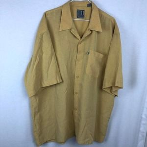 Pineapple Connection Gingham Button Front Shirt XL